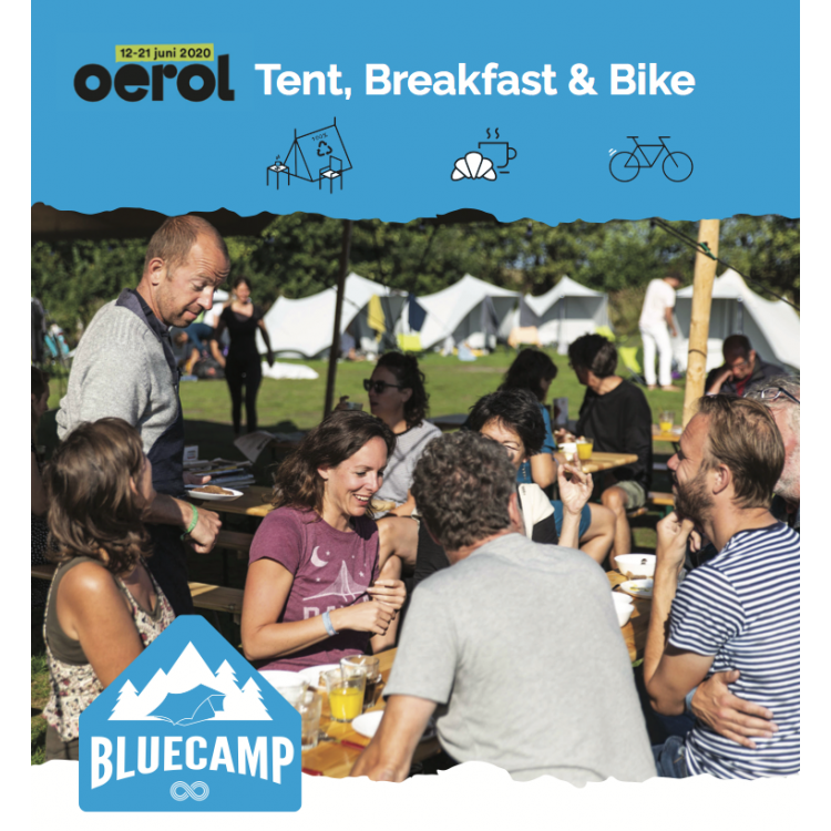 Bluecamp Tent, Breakfast & Bike